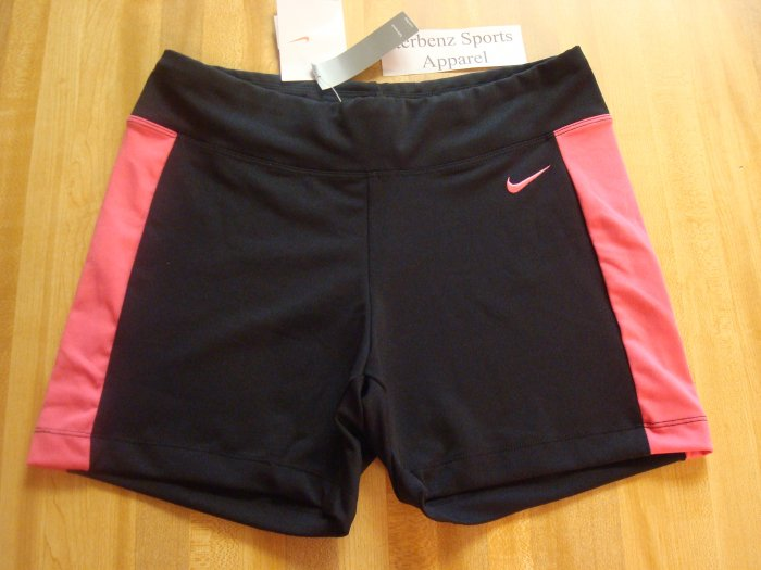 Nwt S NIKE Women Black Flamingo Low Fitness Shorts New Small 245852-012