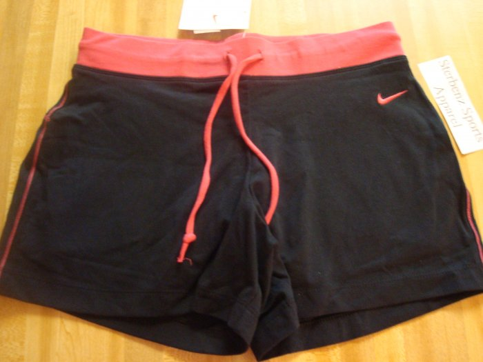 Nwt M 8-10 NIKE Women 2-in-1 WorkOut Shorts New Black Medium 127830-012
