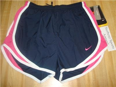 Nwt L NIKE Women Fit Dry Tempo Running Track Shorts New Large 211646-479