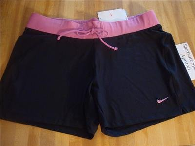 Nwt L NIKE Women Fit Dry Loose-FIT Workout Shorts New Large 207251-012