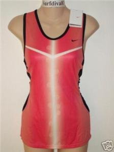 Nwt XL NIKE Dri-Fit Women Race Day Tank Top Shirt New XLarge Pink