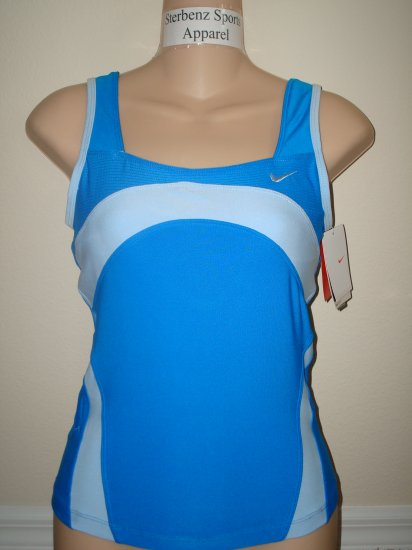 Nwt M NIKE Women Fit Dry Spring Breeze Fitness Top New Medium 255678-477