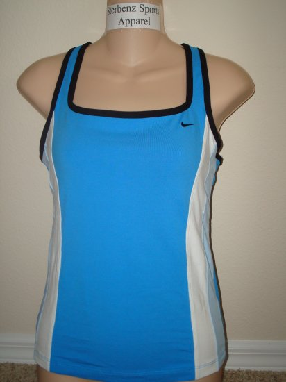 Nwt S NIKE Women Blue Cross-Back Fitness Tank Top New Small 298122-478