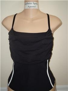 Nwt L NIKE Women Fit Dry Fitness Corset Tank Top New Large Black 227621-010