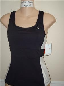 Nwt M NIKE Women Fit Dry Black Fitness Tank Top New HOT Medium 255914-010