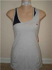 Nwt M NIKE Women Fit Dry Soy Layered Yoga Tank Top New Medium 216932-011