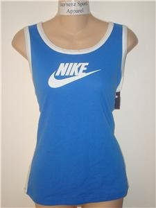 Nwt M NIKE Blue Women Fitness Run Tank Top Shirt New Medium 228479-499