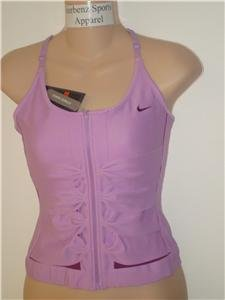 Nwt L NIKE Women Fit Dry Statement Corset Dance Top New Large 202682-536