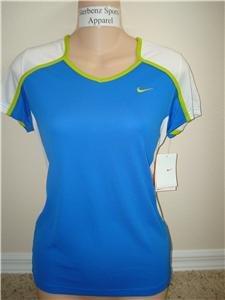 Nwt M NIKE Women Fit Dry Tempo Running Top Shirt New Medium 228609-499