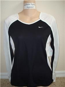 Nwt M NIKE Women Fit Dry Long-Slv Tempo Running Top New Medium 228610-011