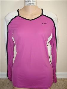 Nwt M NIKE Women Fit Dry Long-Slv Tempo Running Top New Medium 228610-673