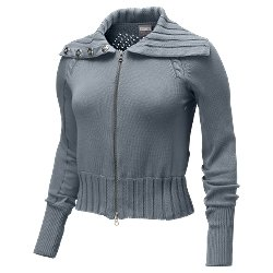 Nwt XS NIKE Women Drop Shot Cable Sweater Top New $150 XSmall 247229-099