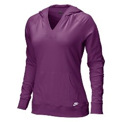 Nwt M NIKE Women Spring Hoodie Hoody Top New $38 Berry Medium 256213-693