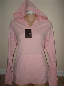 Nwt M NIKE Women Spring Hoodie Hoody Top New $38 Pink Medium 256213-813