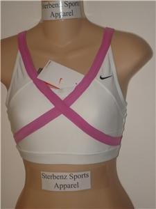 Nwt L NIKE Women Fit Dry Sassy Sport Bra Top New $38 Large 243979-101