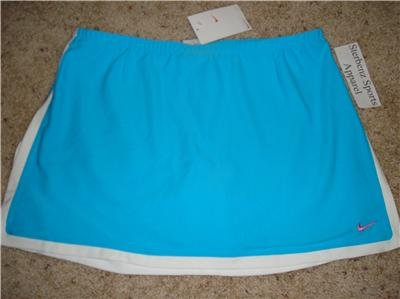 NwT M NIKE DRI-FIT Border Tennis Skirt Women New $50 Medium 241880-464