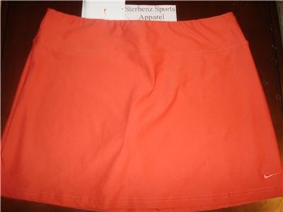 Nwt M NIKE Women Fit Dry Power Tennis Skirt New Sienna Medium 127806-823