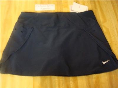 Nwt L NIKE Women Fit Dry Navy Blue Tennis Skirt New Large 247069-475
