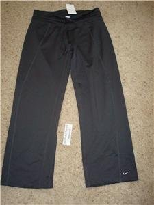 Nwt L NIKE Women Fit Dry Enthusiast WorkOut Pants New Large 227505-060