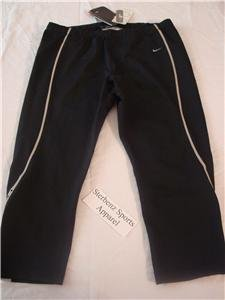 Nwt S NIKE Women Fit Dry Black Ipod Capri Pants New $60 Small