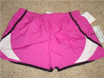 Nwt M NIKE Women Fit Dry Pink Running Track Shorts New Medium 255897-673