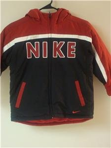Nwt 4 NIKE Boys Reversible Puffy Coat Jacket New $85 864708-355