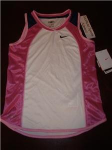 Nwt M NIKE Girls Fit Dry Running Fitness Tank Top New Medium 216514-100
