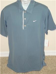 Nwt M NIKE Men Fit Dry Easy Win Tennis Polo Shirt New Medium 207376-402