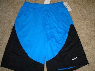 Nwt L NIKE Mens Blue Basketball Fitness Shorts New Large 254097-400