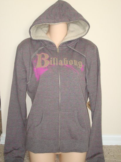 Nwt L BILLABONG Zip Surf Hoodie Top Shirt Jacket New