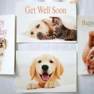 "4 Animal Greeting Card w Envelopes 6 1/8  x 4 1/2"" IFAW"