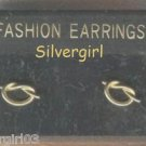 1 Pr Cute Gold Plate Knotted Pierced Earrings