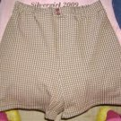 "Womens Brown Plaid Shorts  28-36"" Waist"