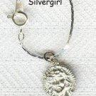 "7"" Chain Bracelet Jesus Head Charm"