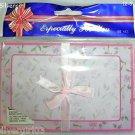 """10 Pretty Pink Purple Floral Note Sheets w 5 Envelopes 5 7/8  x 3 3/4"""""""
