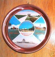 "11"" Vintage Aluminum Wall Plate Regina Saskatchewan SK"