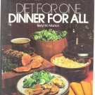 Diet For One Dinner For All Cook Book 1973 Beryl Marton
