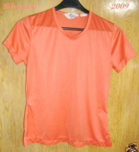 Vintage Polyester ? Salmon Orange T-Shirt  SZ Large