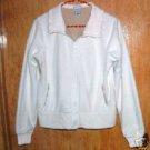 Old Navy White Polar Fleece Jacket SZ M
