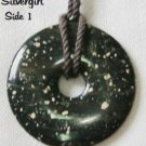 Black Picasso Marble Gemstone Donut Necklace