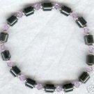 Magnetic Hematite Gemstone Bracelet Violet