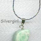 Moss Agate Free Form Gemstone Necklace Small