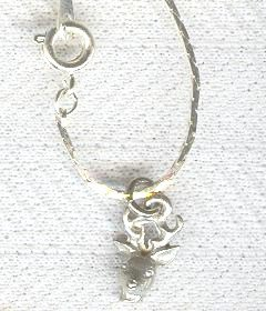 "7"" Chain Bracelet With a Deer Buck Charm"