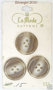 La Mode Vintage 4 Hole Brown White Streaked Buttons