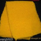 Hand Knit Scarf Golden Yellow  46 x 8""