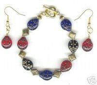 Lady Bug Bracelet Earring Set