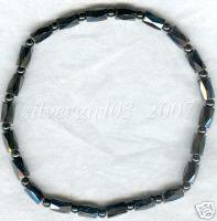 Magnetic Black Hematite Beaded Anklet