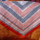 """Large 23"""" Square Red White Blue Silky Scarf"""