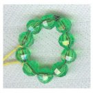 Bright Green Fun Beaded Ring  SIZE 6/7