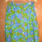 Bright Colorful Front Button Cotton Lightweight Skirt